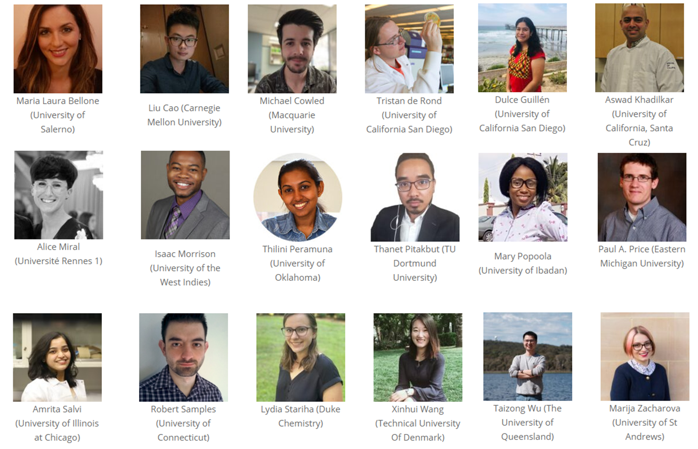 Vanguards of Natural Product Research 2021 podium presenters. Note: Not able to be reflected on the website in time, Mary Popoola had a last-minute emergency and was substituted by an unrelated presentation from Kathleen Abt (CIIMAR University of Porto).